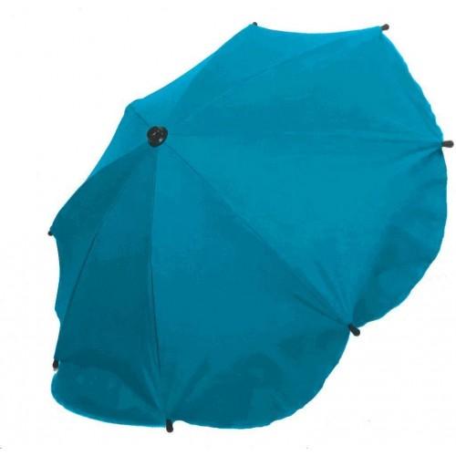 Slunečník na kočárek - modrý melír