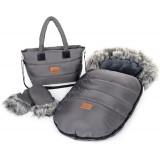 Zimní set HappyBee Trinity - fusak, rukavice, taška Latte