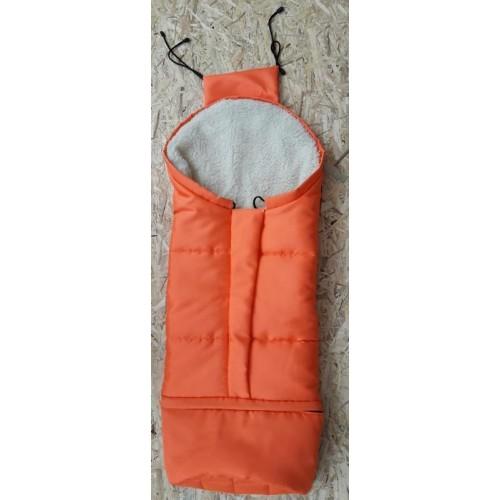 HappyBee zimní fusak Mumi 3v1 ovčí rouno pomerančová