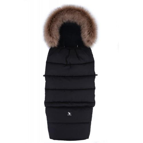 Zimní fusak Cottonmoose Combi YUKON s kožíškem Black