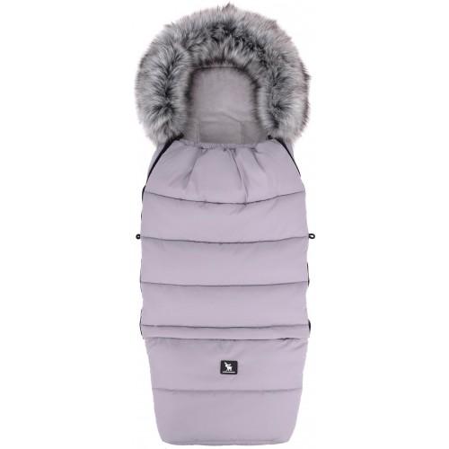 Zimní fusak Cottonmoose Combi YUKON s kožíškem Gray